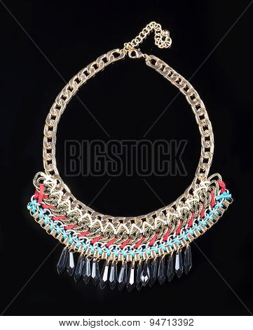 luxury necklace on black stand