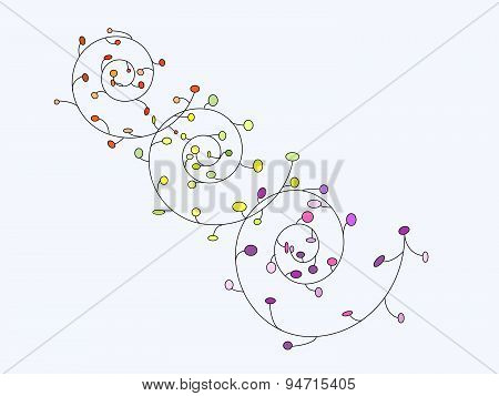 The abstract pattern of bright spiral