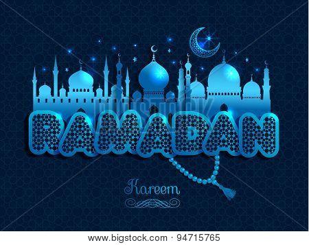Ramadan Kareem Greeting Card Witx Text Ramadan And Mosque.