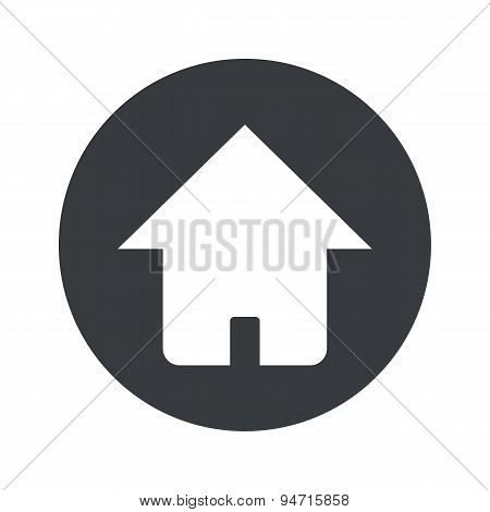 Monochrome round home icon