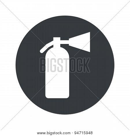 Monochrome round fire extinguisher icon