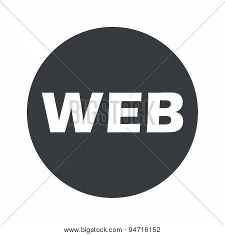 Monochrome round WEB icon