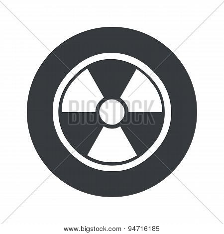 Monochrome round hazard icon