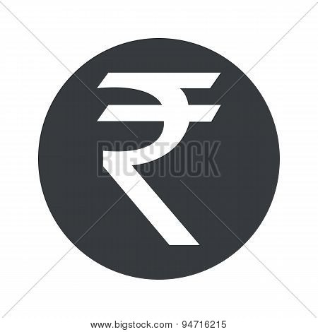 Monochrome round rupee icon