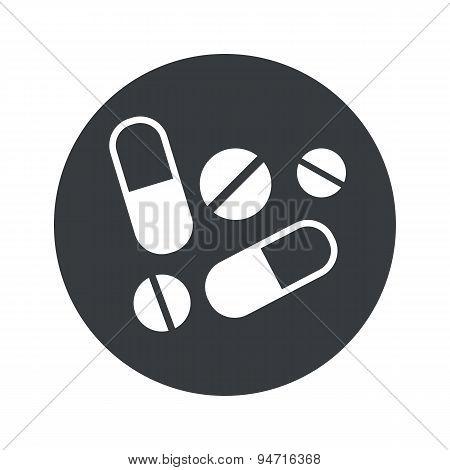 Monochrome round medicine icon