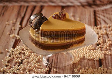 Heart Shape Caramel Cake