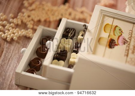Box With Chocolate Sweets