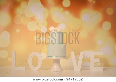 Marzipan Green Cake With Love Letters