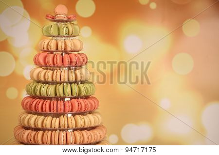 Pyramid Of Assorted Macaroons