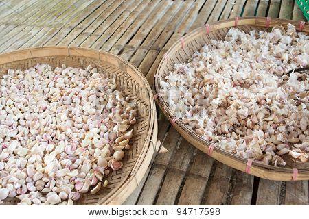 Dry organic garlic