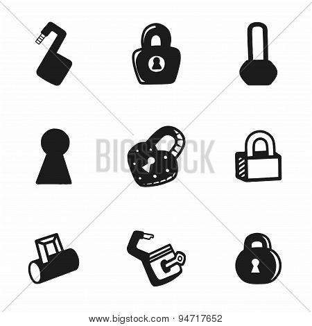 Vector lock icon set