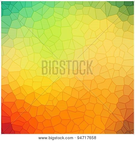colorful crystallization pattern