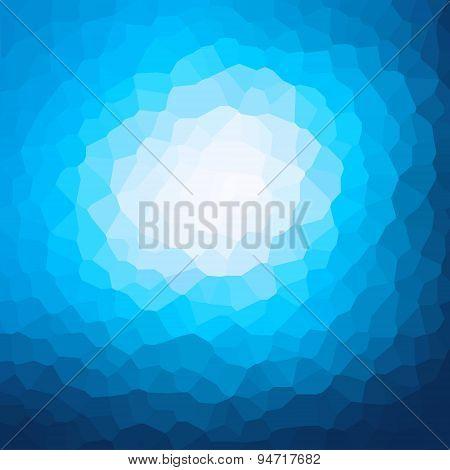 blue crystallization pattern