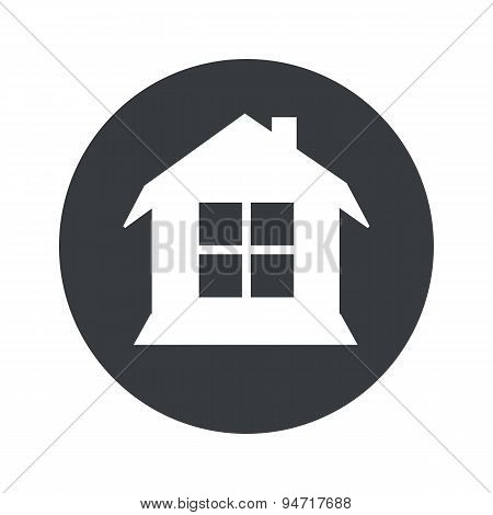 Monochrome round house icon