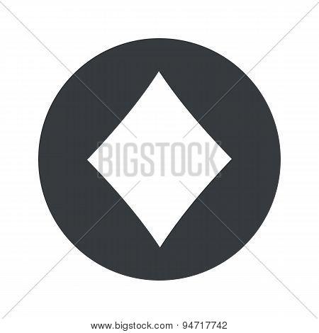 Monochrome round diamonds icon