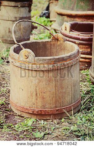 Old Wooden Bucket.