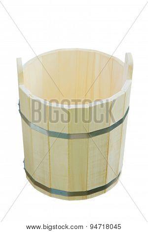 Wooden Bucket.isolated.