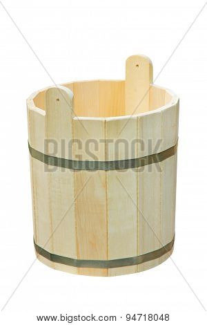 Wooden Vat.isolated.