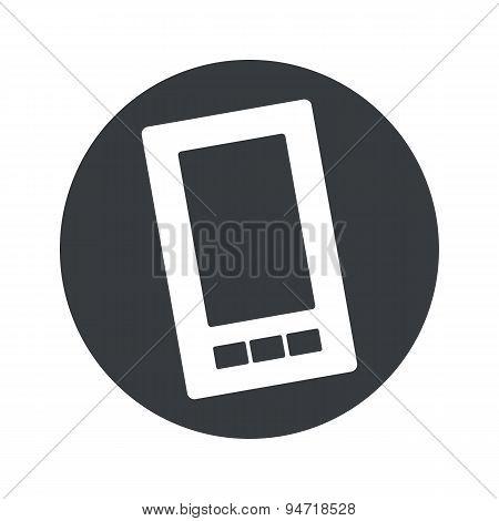 Monochrome round smartphone icon