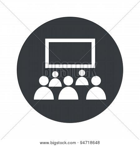 Monochrome round audience icon