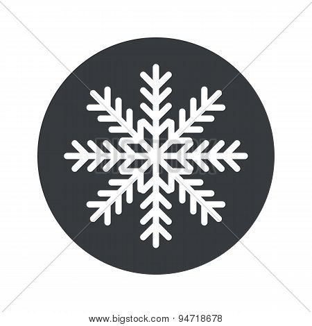 Monochrome round winter icon