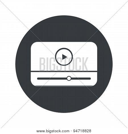 Monochrome round mediaplayer icon