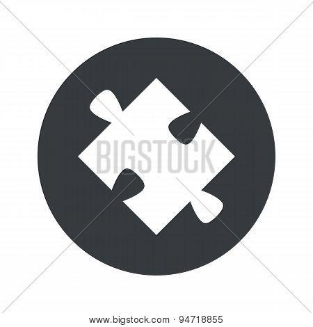 Monochrome round puzzle icon