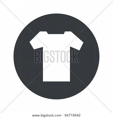Monochrome round T-shirt icon