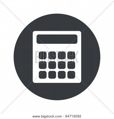 Monochrome round calculator icon