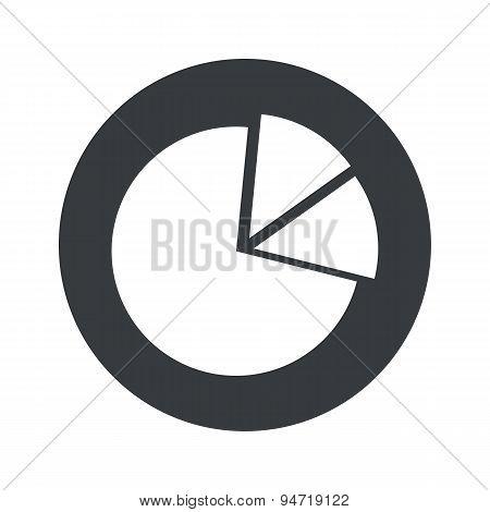 Monochrome round diagram icon
