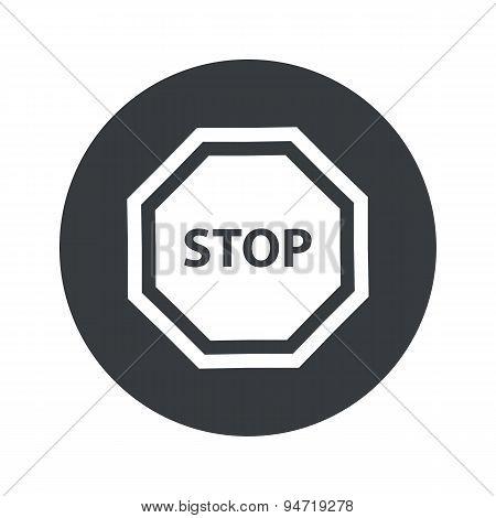 Monochrome round STOP icon