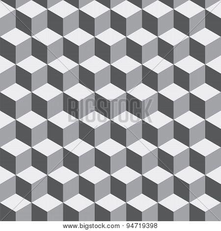 Geometric Seamless Pattern Of Gray Tones