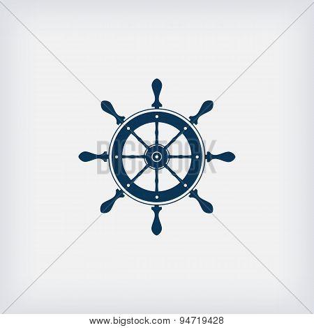 Marine Steering Wheel Vector Icon