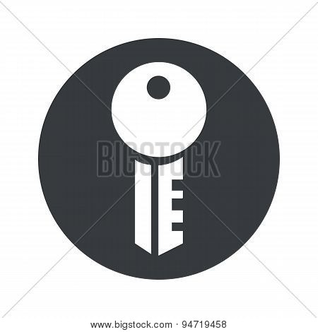 Monochrome round key icon