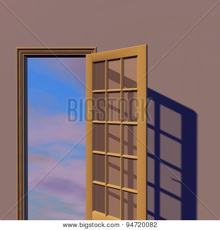 Open Doors, New Possibilities Concept Illustration