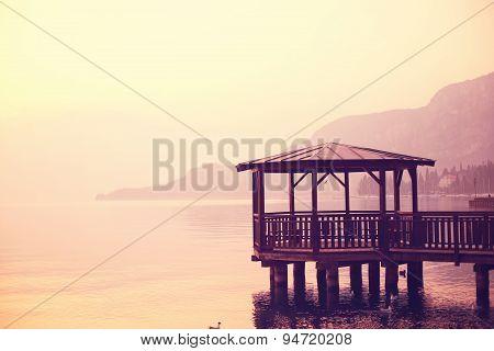 Pier On Garda Lake