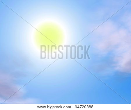 Beautiful Background Sky With Sun