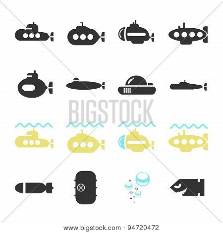 Submarine Icon Set