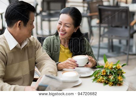 Dating senior couple