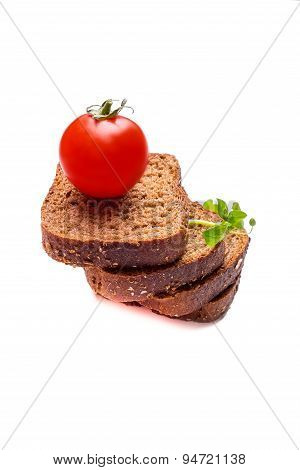 Fresh Bread With Cerry Tomatoes