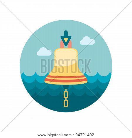 Bell Marine Flat Icon