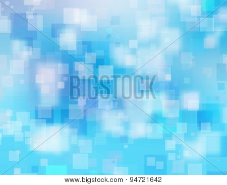 Blue Blurry Background With Squares