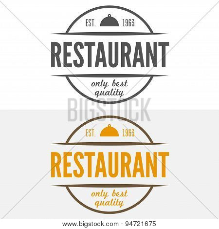 Logo, label, emblem, badge and logotype elements for restaurant, cafe, cafeteria, bar or company