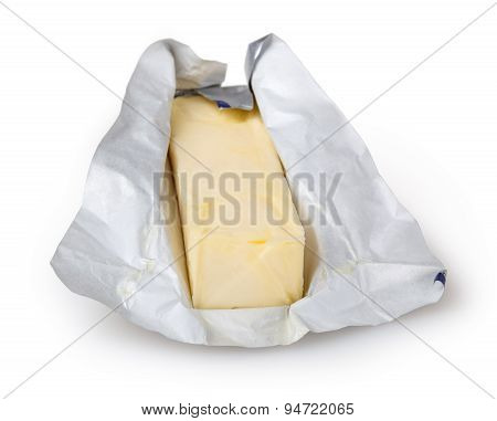 Butter Isolated On White Background With Clipping Path