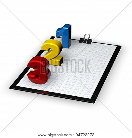 Making List, Plans, Planning Concept Idea, Illustration Isolated