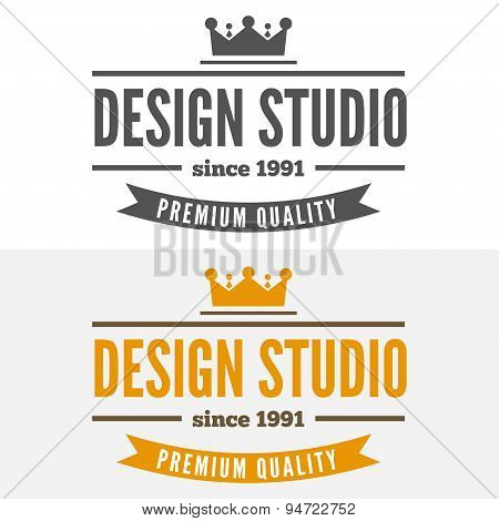Retro Vintage Insignia or Logotype Vector design element, business sign template
