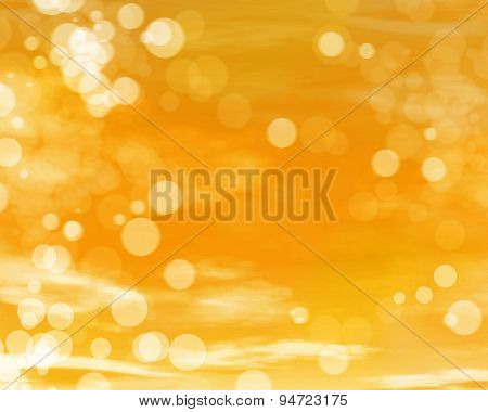 Yellow Sunny Day Beautiful Cloudy Artistic Background
