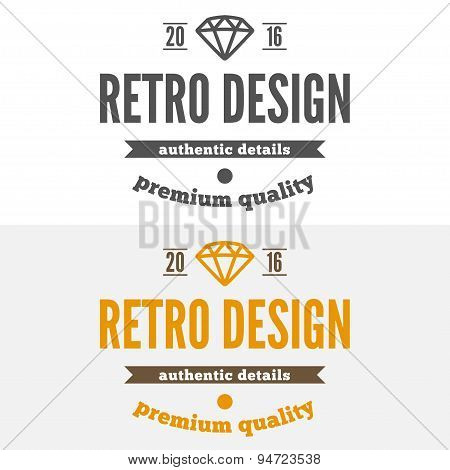 Set of vintage logo, label, badge and logotype elements for jewelry, shop or company