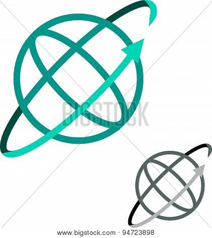 Cyber World, Techno Globe, World Online Logo