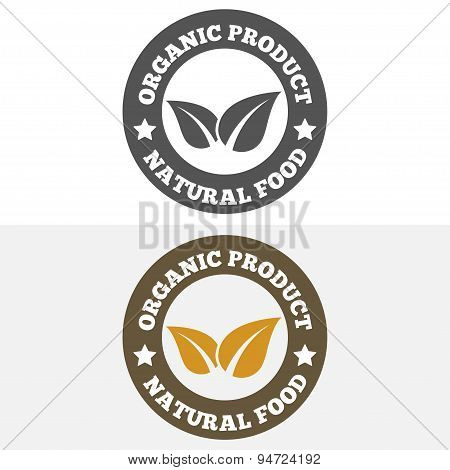 Set of vintage logo, label, badge, logotype elements for organic, natural companies, corporates, cos